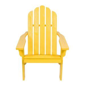 Shine Co. Adirondack Chair With Hydro-Tex Finish  -Yellow - Size: NoSize