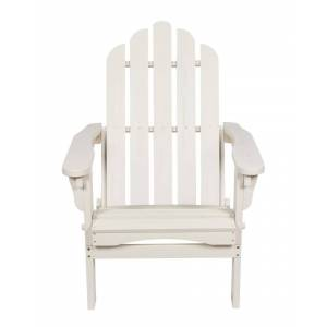 Shine Co. Adirondack Folding Chair With Hydro-Tex Finish  -Off-White - Size: NoSize