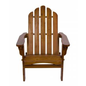Shine Co. Adirondack Folding Chair With Hydro-Tex Finish  -Brown - Size: NoSize