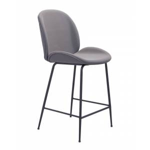 Zuo Modern Miles Counter Chair  -Grey - Size: NoSize