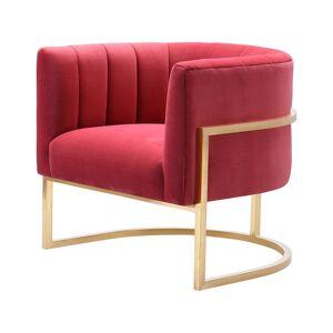 TOV Magnolia Hot Pink Velvet Chair   - Size: NoSize