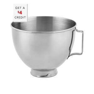 KitchenAid 4.5qt Polished Stainless Steel Bowl with Handle - K45SBWH with $4 Credit   - Size: NoSize