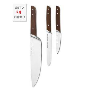 KitchenAid 3pc Starter Knife Set with $5 Credit  -Brown - Size: NA