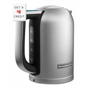 1.7L Electric Kettle with LED Display - KEK1722SX with $8 Credit   - Size: NoSize