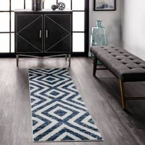 Rugs USA Blue Spectacle Chevron Stripes rug - Contemporary Runner 2' x 6'