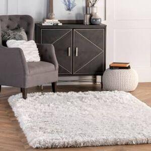 Rugs USA Ivory Terrace Fluffy Speckled Shag rug - Shags Rectangle 4' x 6'