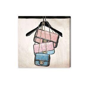 "Oliver Gal Closet Purses Fine Art - Beige Pink - Size 12"" X 12""      size:12"" X 12"""