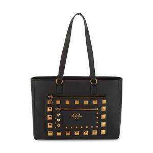 Moschino Love Moschino Women's Embellished Faux Leather Tote - Nero  Nero  female  size:one-size