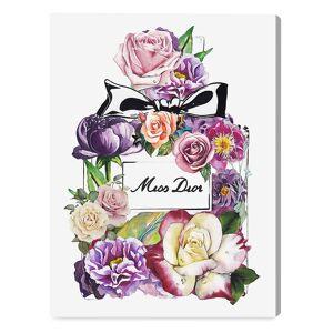 "Oliver Gal Doll Memories My Flower Fine Art Canvas Print - Purple - Size 12"" x 16""  Purple  unisex  size:12"" x 16"""