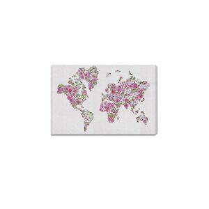 "Oliver Gal Mapamundi Roses Canvas Art - Purple Multi - Size 15"" X 10""  Purple Multi  unisex  size:15"" X 10"""