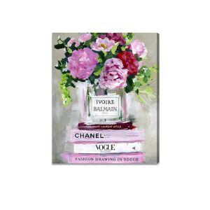 "Oliver Gal Floral V2 Canvas Art - Pink Multi - Size 13"" X 16""  Pink Multi  unisex  size:13"" X 16"""