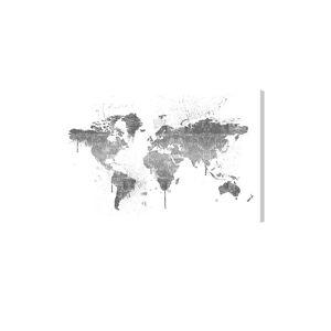 "Oliver Gal World-Map Fine Canvas Art - Size 15"" X 10""      size:15"" X 10"""