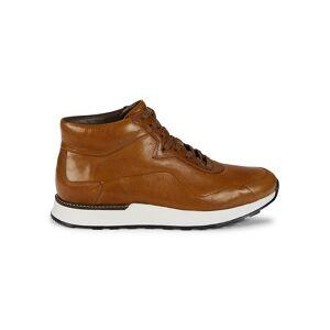 Allen Edmonds Men's Leather High Top Sneakers - Walnut - Size 9.5  Walnut  male  size:9.5