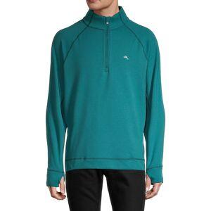 Tommy Bahama Men's Palm Harbor Quater-Zip Sweatshirt - Deep Sea - Size L  Deep Sea  male  size:L