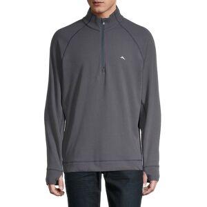 Tommy Bahama Men's Palm Harbor Quater-Zip Sweatshirt - Grey Fog - Size L  Grey Fog  male  size:L