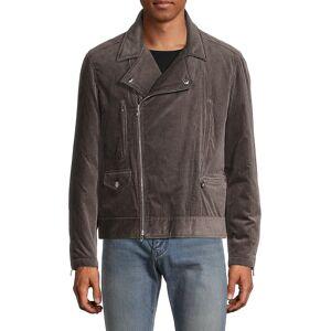 Brunello Cucinelli Men's Corduroy Biker Jacket - Grey - Size M  Grey  male  size:M