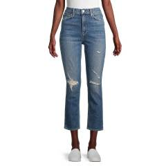 Hudson Jeans Women's Holly High-Rise Straight Jeans - Never Ever - Size 27 (4)  Never Ever  female  size:27 (4)