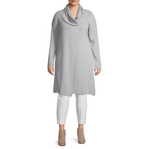 Lafayette 148 New York Women's Plus Cowlneck Wool Tunic Sweater - Cognac - Size 3X (22-24)  Cognac  female  size:3X (22-24)