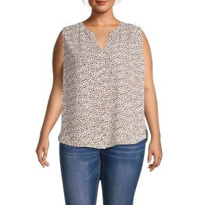 Not Your Daughter's Jeans Women's Plus Printed Shell Top - Blue Floral - Size 0X (10-12)  Blue Floral  female  size:0X (10-12)