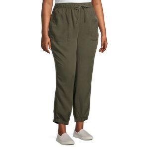 Sanctuary Women's Plus Tencel Joggers - Dark Olive - Size 1X (14-16)  Dark Olive  female  size:1X (14-16)