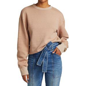 A.L.C. Women's Sawtos Studded Cotton Sweatshirt - Nude - Size M  Nude  female  size:M
