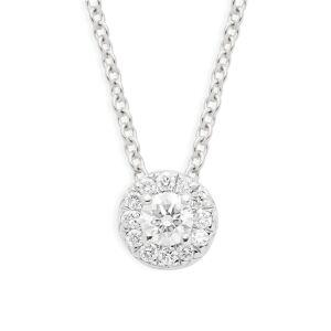 Nephora Women's 14K White Gold & Diamond Halo Pendant Necklace  White Gold  female  size:one-size