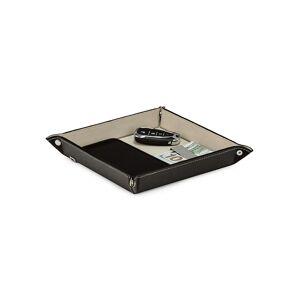 Bey-Berk Leather Valet Tray - Black      size: