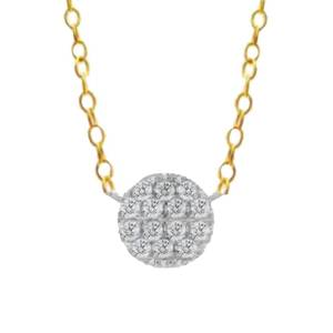 Meira T Women's 14K Yellow Gold & 0.23 TCW Diamond Disc Necklace  Yellow Gold  female  size:one-size