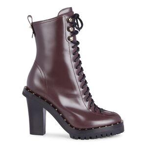 Valentino Garavani Women's Rockstud Lace-Up Booties - Deep Rubin - Size 39 (9)  Deep Rubin  female  size:39 (9)