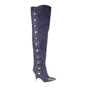 Giuseppe Zanotti Women's Denim Over-The-Knee Boots - Jeans - Size 5  Jeans  female  size:5