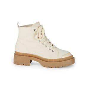 Steve Madden Women's Sabri Boots - Nat Canvas - Size 7  Nat Canvas  female  size:7