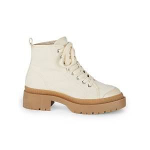 Steve Madden Women's Sabri Boots - Nat Canvas - Size 5  Nat Canvas  female  size:5