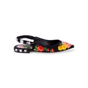 Dolce & Gabbana Women's Embellished Floral Slingback Flats - Size 37 (7)  neutral  female  size:37 (7)