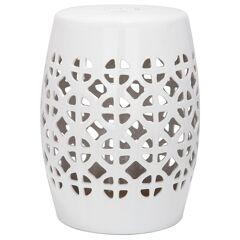 Safavieh Latticed Ceramic Garden Stool - White  White  unisex  size:one-size