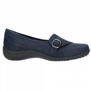 Easy Street Cinnamon Slip On Flats  - Blue - Women - Size: 8 B