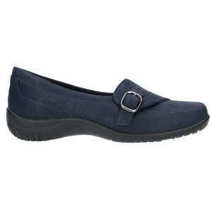 Easy Street Cinnamon Slip On Flats  - Blue - Women - Size: 6 A