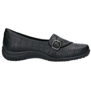 Easy Street Cinnamon Croc Slip On Flats  - Black - Women - Size: 6.5 2E