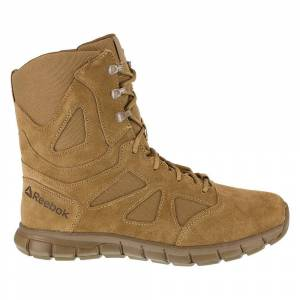 Reebok Work Sublite Cushion Tactical AR670-1 Army Compliant OCP Boots  - Beige - Men - Size: 6.5 D