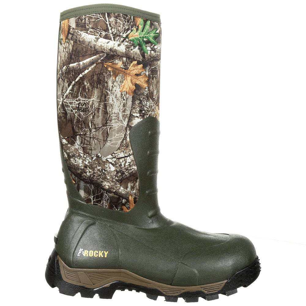Rocky Sport Pro 16 inch Rubber Insulated Waterproof Outdoor Boots  - Green - Men - Size: 8 D