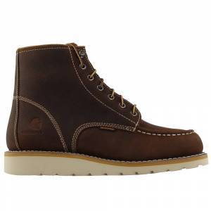 Carhartt 6 Inch Waterproof Non-Safety Toe EH Wedge Boots  - Brown - Men - Size: 8.5 2E