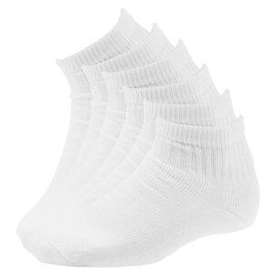 Wigwam Super 60 Quarter Socks 6-Pack White Socks L