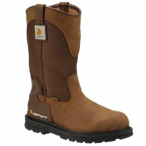 "Carhartt 11"" Wellington Steel Toe Men's Brown Boot 8 W"