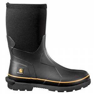 "Carhartt CMV1121 10"" WP Rubbr Boot Men's Black Boot 14 M"