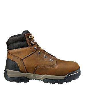 """Carhartt Ground Force 6"""" WP Comp Toe Boot Men's Brown Boot 11 W"""