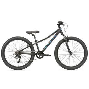 Haro Boy's Flightline 24B Youth Bike '21  - Matte Black/Blue - Size: 24