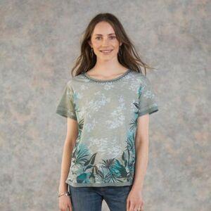 Sundance Catalog Women's Dominica T-Shirt in Aquagryprt Medium  - Aquagryprt - female - Size: Medium