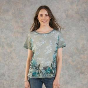 Sundance Catalog Women's Dominica T-Shirt in Aquagryprt Large  - Aquagryprt - female - Size: Large