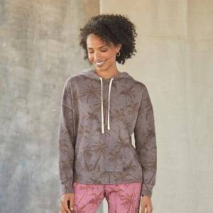 Sundance Catalog Women's Palm Isle Hoodie in Ltcharcoal Large  - Ltcharcoal - female - Size: Large