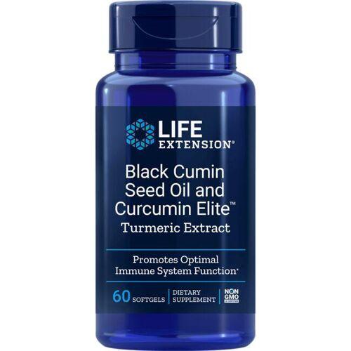 Life Extension Black Cumin Seed Oil and Curcumin Elite 60 Soft Gels