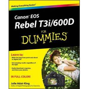 John Wiley & Sons Inc Canon EOS Rebel T3i / 600D For Dummies by Julie Adair King